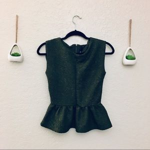 LOVE CULTURE Green Peplum Top